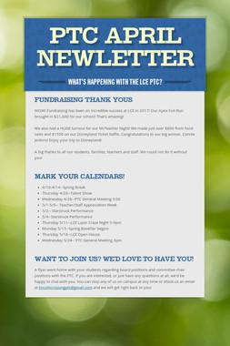 PTC April Newletter