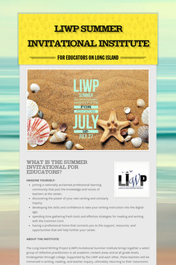 LIWP Summer Invitational Institute
