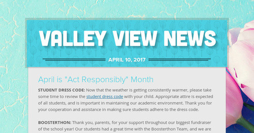 Valley View News | Smore Newsletters for Education