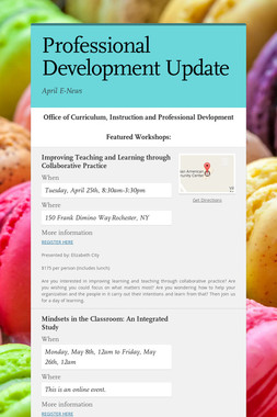 Professional Development Update