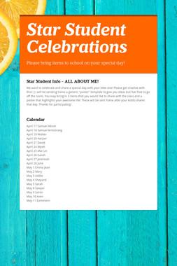 Star Student Celebrations