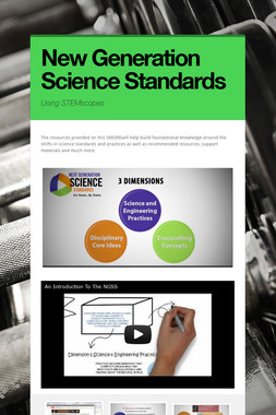 New Generation Science Standards