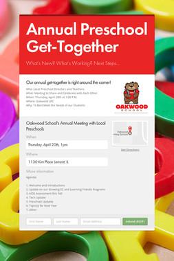 Annual Preschool Get-Together