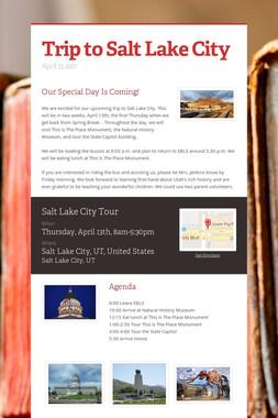 Trip to Salt Lake City