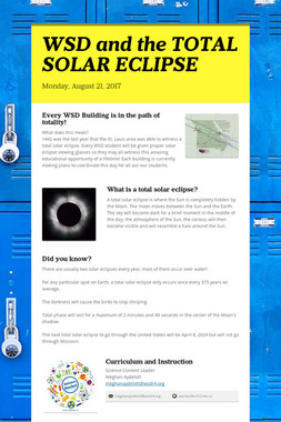 WSD and the TOTAL SOLAR ECLIPSE