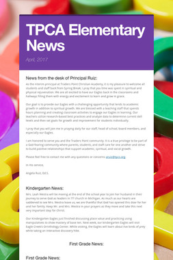 TPCA Elementary News