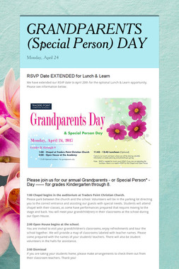 GRANDPARENTS (Special Person) DAY