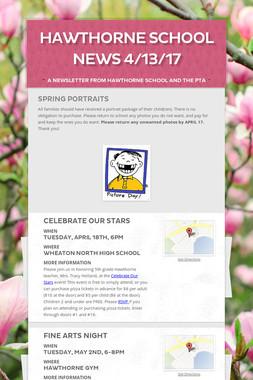 Hawthorne School News 4/13/17