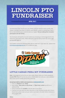 Lincoln PTO Fundraiser