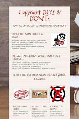 Copyright DO'S & DON'Ts