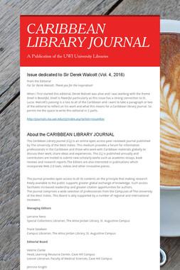 CARIBBEAN LIBRARY JOURNAL