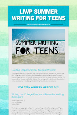 LIWP Summer Writing For Teens