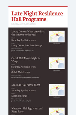 Late Night Residence Hall Programs