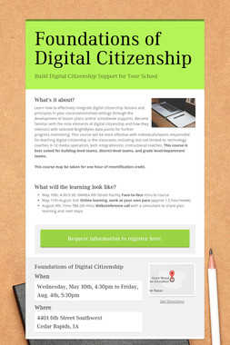Foundations of Digital Citizenship