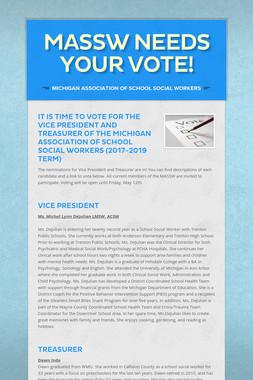 MASSW needs your VOTE!