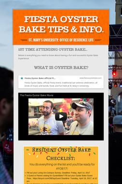 Fiesta Oyster Bake Tips & Info.