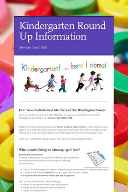 Kindergarten Round Up Information