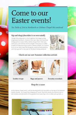 Come to our Easter events!