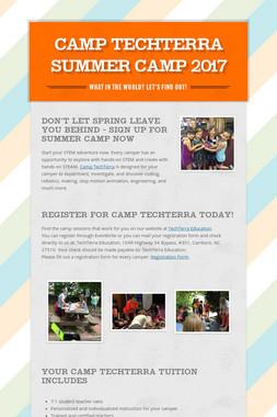CAMP TECHTERRA SUMMER CAMP 2017
