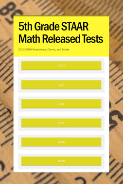 5th Grade STAAR Math Released Tests