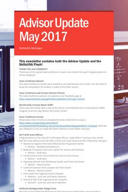 Advisor Update May 2017