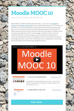 Moodle MOOC 10