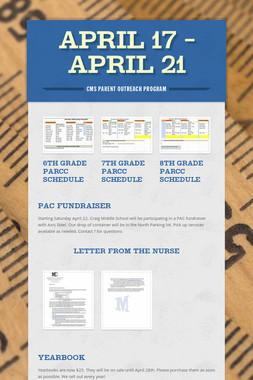 April 17 - April 21