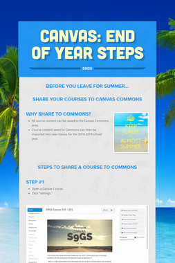 Canvas: End of Year Steps