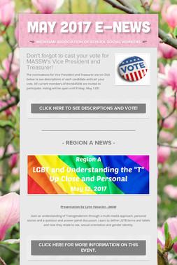 May 2017 E-News