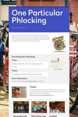 One Particular Phlocking