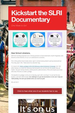 Kickstart the SLRI Documentary