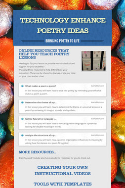 Technology Enhance Poetry Ideas