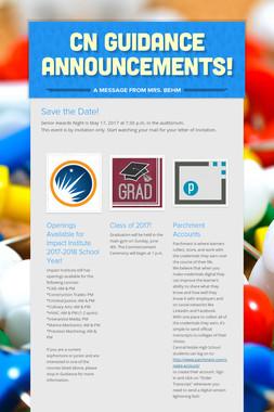 CN Guidance Announcements!