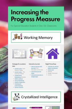 Increasing the Progress Measure
