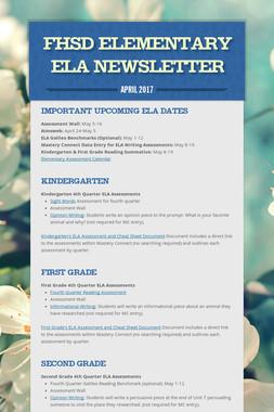FHSD Elementary ELA Newsletter