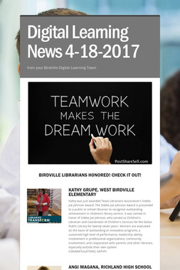 Digital Learning News 4-18-2017