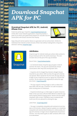 Download Snapchat APK for PC