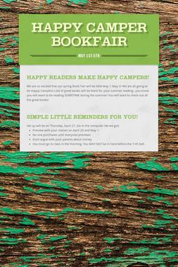 HAPPY CAMPER BOOKFAIR