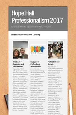 Hope Hall Professionalism 2017