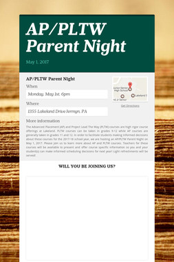 AP/PLTW Parent Night