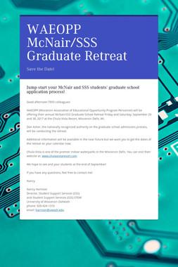 WAEOPP McNair/SSS Graduate Retreat