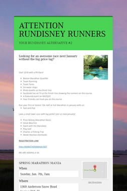 ATTENTION RUNDISNEY RUNNERS