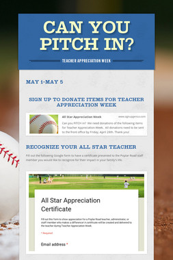 Can you Pitch In?