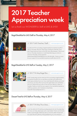2017 Teacher Appreciation week