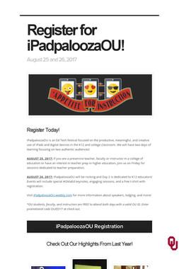Register for iPadpaloozaOU!
