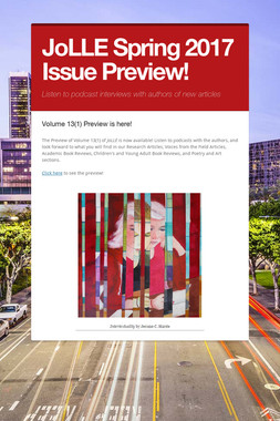 JoLLE Spring 2017 Issue Preview!
