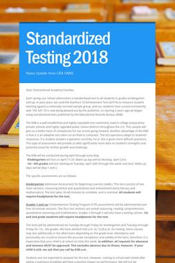Standardized Testing 2018