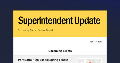 Superintendent Update Smore Newsletters For Education