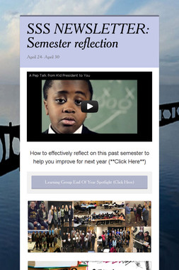 SSS NEWSLETTER: Semester reflection