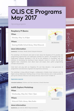 OLIS CE Programs May 2017